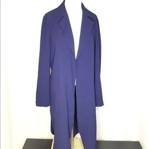 Navy blue long soft trench coat Xs NWT